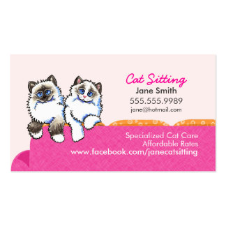 Cat Sitting Ragdoll Couch Pink Pack Of Standard Business Cards