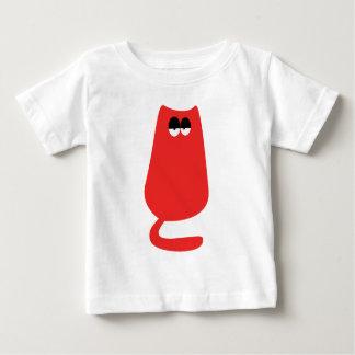 Cat Sitting Red Hi Eyes Baby T-Shirt