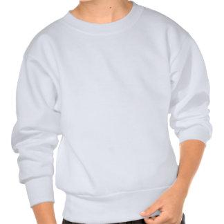 Cat Sitting Sideways Black Topsy Turvey Eyes Pullover Sweatshirt