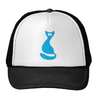 Cat Sitting Turnaround Blue Topsy Turvey Eyes Cap