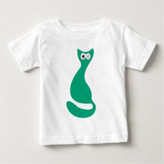 Cat Sitting Turnaround Green Manic Bloodshot Eyes Baby T-Shirt