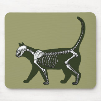Cat Skeleton Mouse Mat