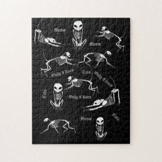 Cat skeleton puzzle
