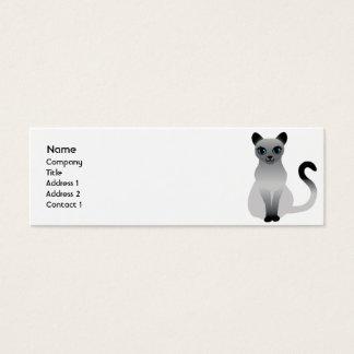 Cat - Skinny Mini Business Card