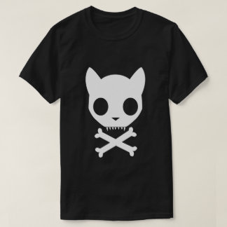 Cat Skull and Crossbones T-Shirt