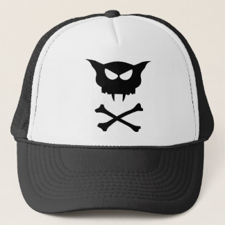 Cat Skull Trucker Hat