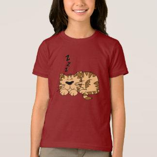 Cat Sleeping Girls T-Shirt