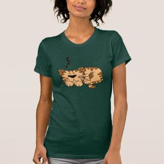 Cat Sleeping Womens T-Shirt