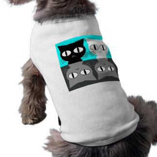 cat sleeveless dog shirt