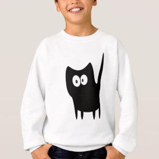 Cat Small Standing Black Hello Eyes Sweatshirt