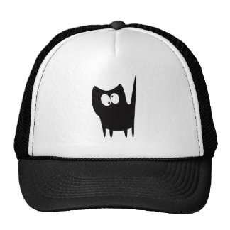 Cat Small Standing Black Topsy Turvey Eyes Cap