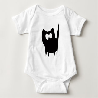Cat Small Standing Black Topsy Turvey Eyes Infant Creeper