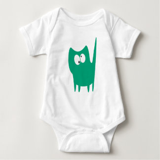 Cat Small Standing Green Topsy Turvey Eyes Baby Bodysuit