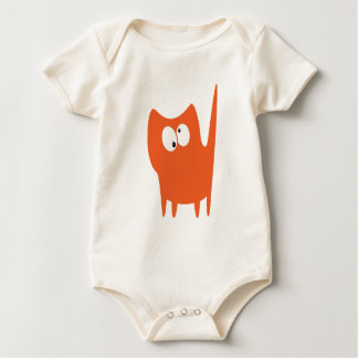 Cat Small Standing Orange Topsy Turvey Eyes Baby Bodysuit