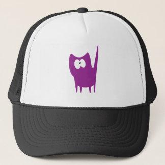 Cat Small Standing Purple Wtf Eyes Trucker Hat
