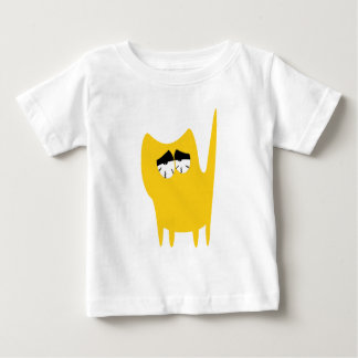 Cat Small Standing Yellow So Tired Eyes Baby T-Shirt