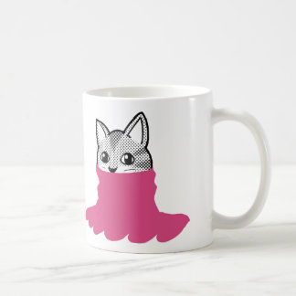 Cat Smiley Turtleneck Pink Coffee Mug