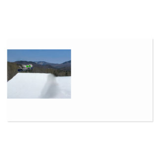 Cat Snowboarding A Off Ramp Business Card Templates