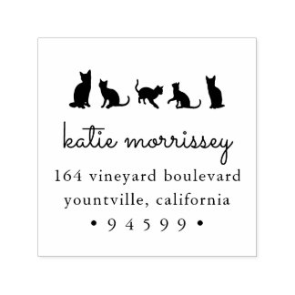 Cat Squad Return Address Self-inking Stamp