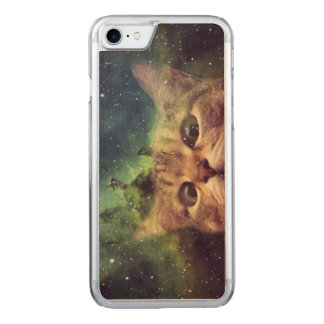 Cat Staring into Space Carved iPhone 8/7 Case