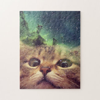 Cat Staring into Space Jigsaw Puzzle