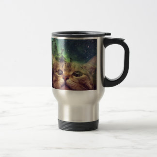 Cat Staring into Space Travel Mug