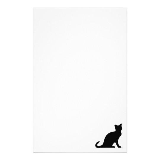 Cat stationery | writing paper with black kitten