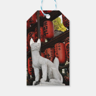 Cat statue in Tokyo, Japan Gift Tags