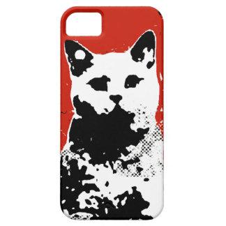 cat stencil iPhone 5 cases