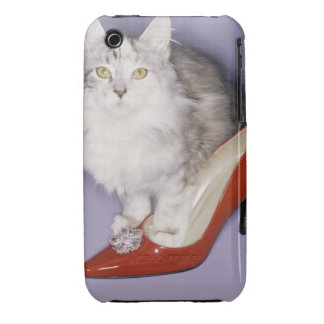 Cat stepping into high heel iPhone 3 covers