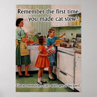 Cat Stew Funny Poster Print Humor