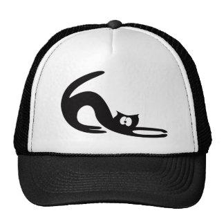 Cat Stretch Black Huhh Eyes Cap