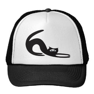 Cat Stretch Black Sad Eyes Mesh Hat