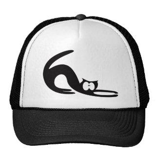Cat Stretch Black Wtf Eyes Hat