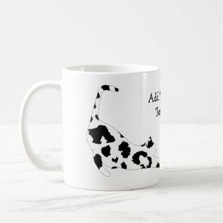 Cat Stretch Mug - Black Leopard Print Basic White Mug