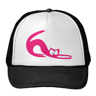 Cat Stretch Pink Topsy Turvey Eyes Cap