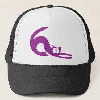 Cat Stretch Purple Wtf Eyes Trucker Hat