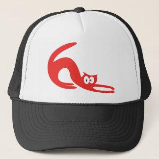 Cat Stretch Red Hello Eyes Trucker Hat