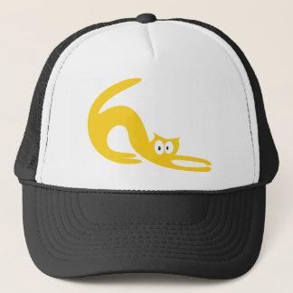 Cat Stretch Yellow Hello Eyes Trucker Hat