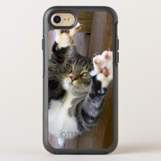Cat stretching, indoors OtterBox symmetry iPhone 7 case