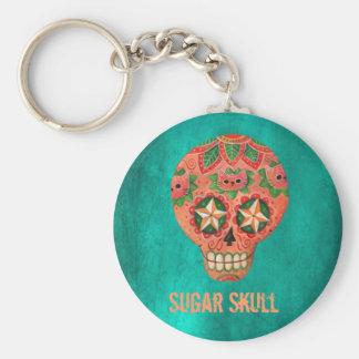 Cat Sugar Skull Key Chain