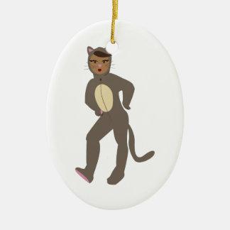 Cat Suit Christmas Ornament