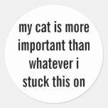 CAT SUPREMACY CLASSIC ROUND STICKER
