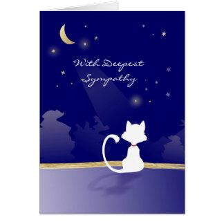 Cat Sympathy Card - Moon and Stars
