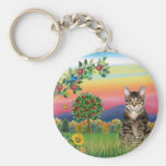 Cat (Tabby1) - Bright Country Keychains