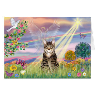 Cat (Tabby) - Cloud Angel Card