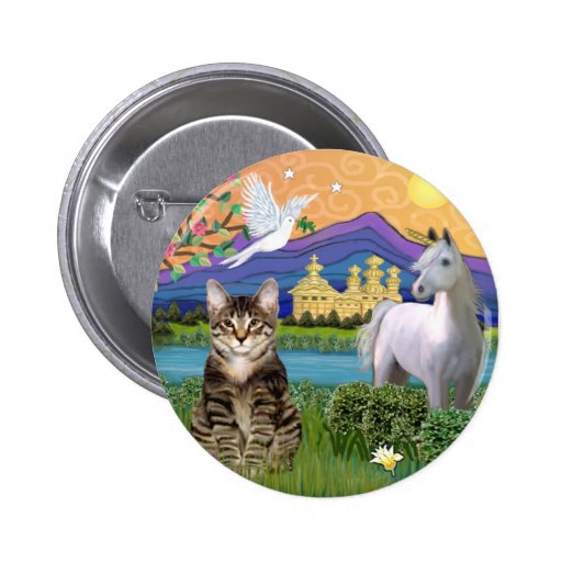 Cat -(Tabby) - Fantasy Land Pin