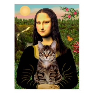 CAT (Tabby) - Mona Lisa Postcard