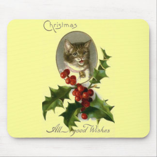 Cat Tags Best Wishes Mouse Pad