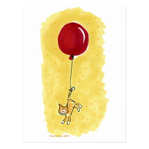 Cat Tail/Balloon Postcards